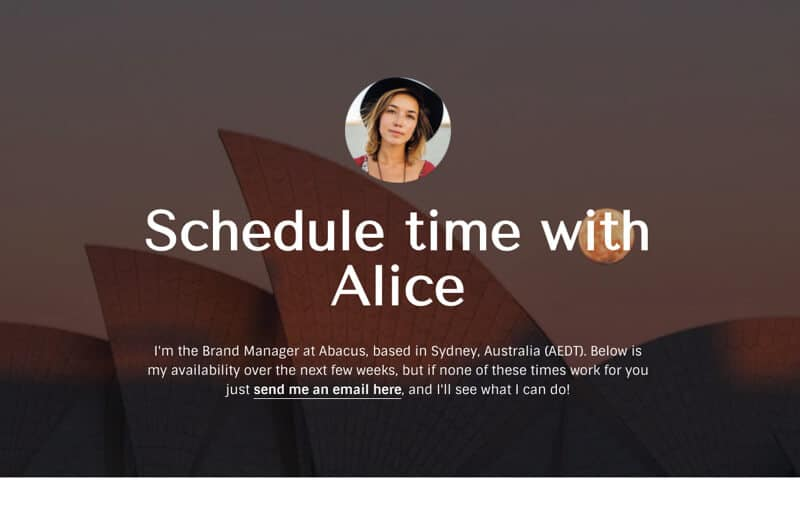 HubSpot Meeting Schedule Template