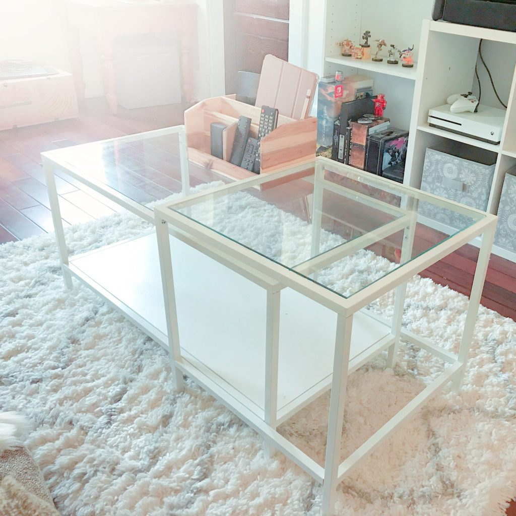 The Ikea Vittsjö nesting coffee table.