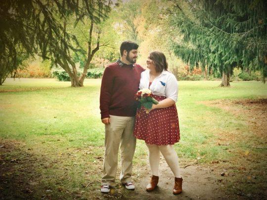 Seth & I at our wedding.