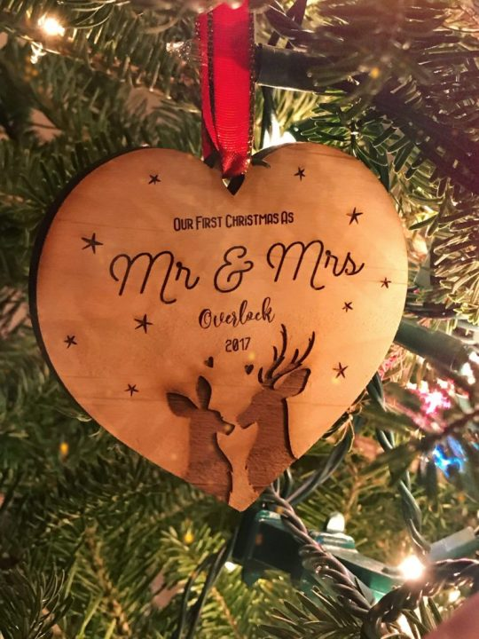 """Seth and I's """"First Christmas"""" ornament."""