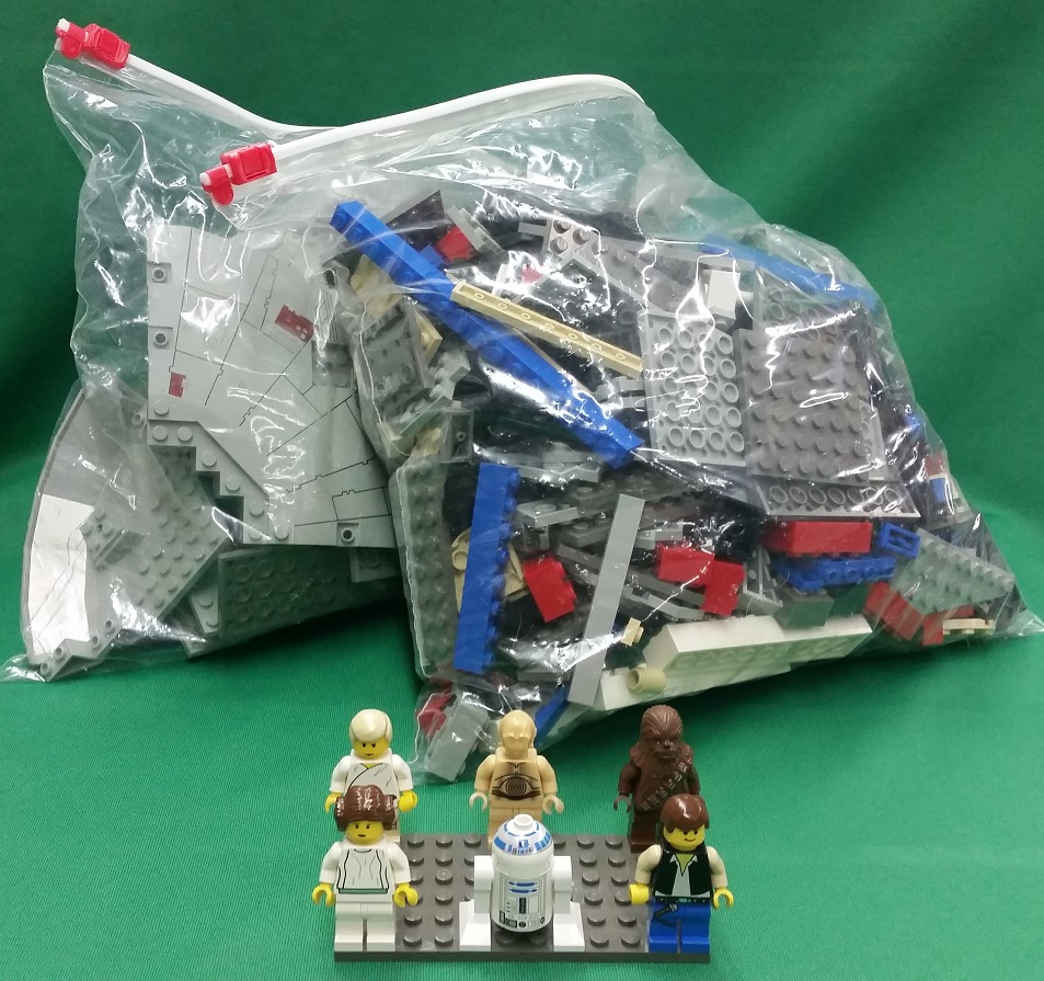 Details About Lego Star Wars Millennium Falcon 7190 W Mini Figures No Box Or Booklet