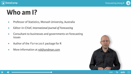 New online datacamp course: Forecasting in R
