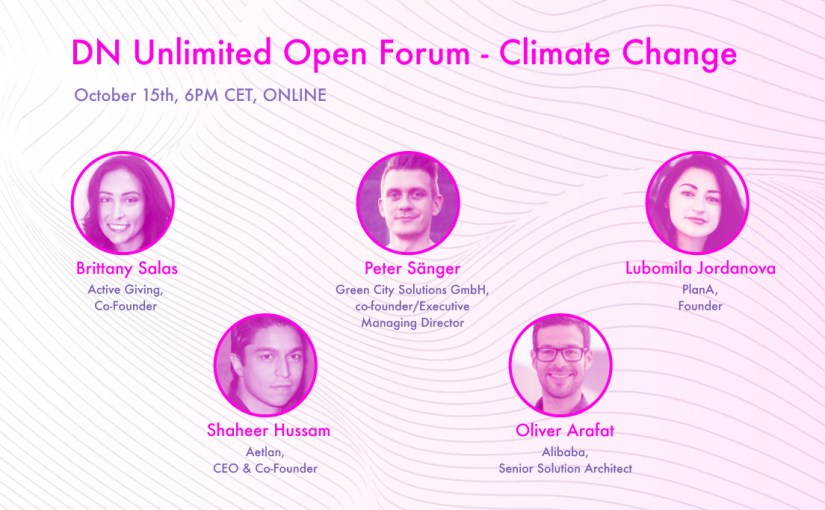 Climate Change & AI for GOOD | Online Open Forum Oct 15th