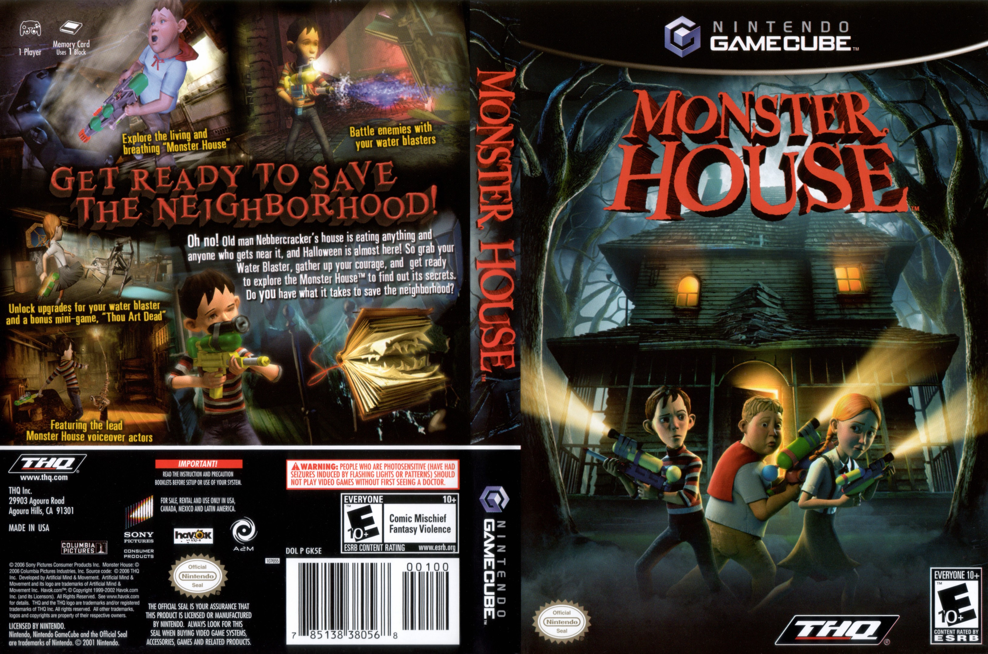 Monster House ISO   GCN ISOs   Emuparadise Monster House Cover   Click for full size image