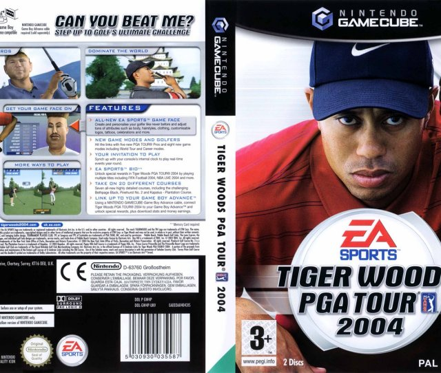 Tiger Woods Pga Tour 2004 Europe Disc