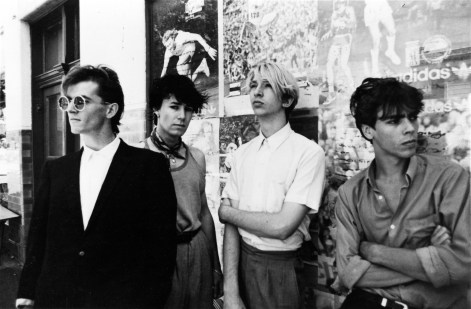 The classic Models line-up most recall from the 80's: (L to R) Sean Kelly, James Freud, Barton Price and Andrew Duffield.