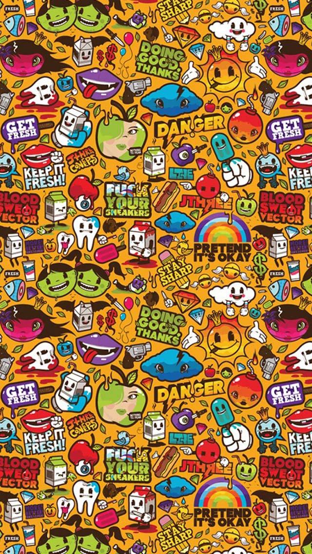 Orange Wallpaper Cartoon Wallpapershit