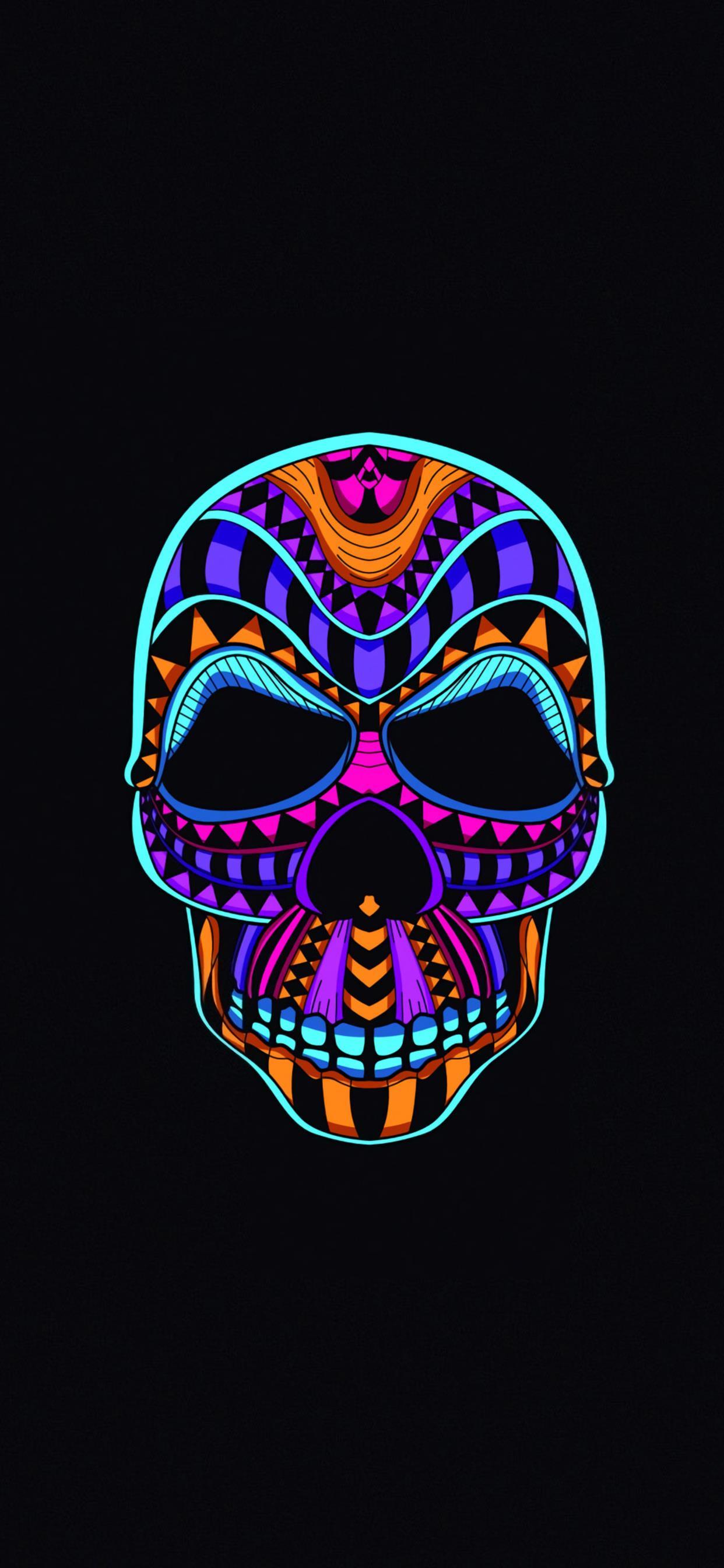 Skull Dark Minimal 4k Iphone X Wallpapers Free Download