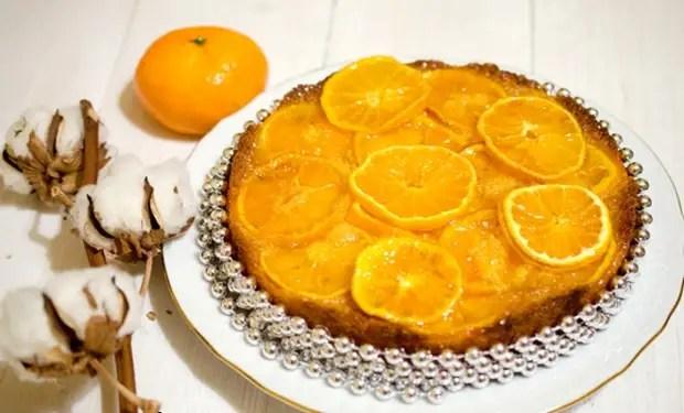 Как украсить песочный торт мандаринами