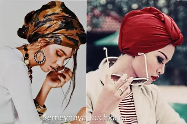 如何将头巾绑在你的头上