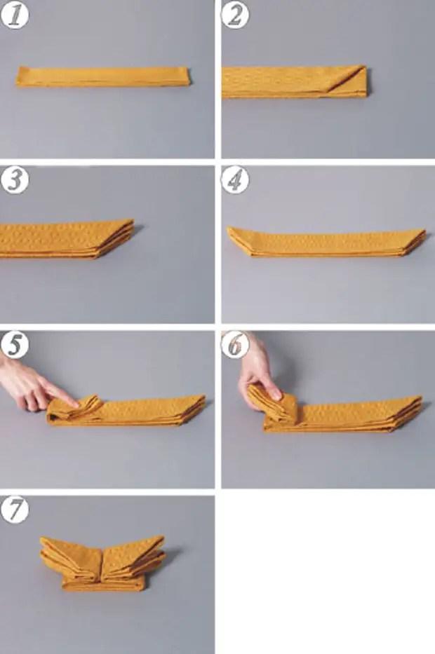 10 طرق للطي صورة مناديل - خطوة بخطوة