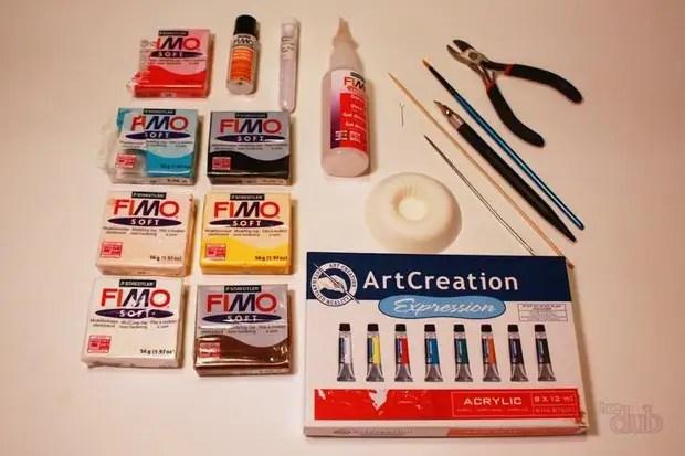 Para trabalhar com argila de polímero, é desejável comprar pintura fimo
