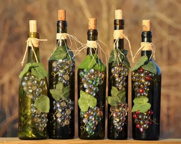 Hiasan botol untuk kluster anggur