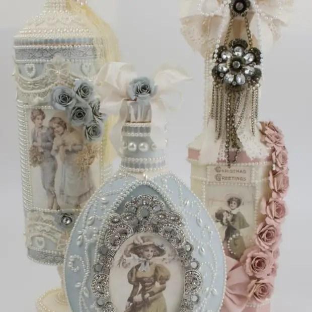 Reka bentuk botol vintaj