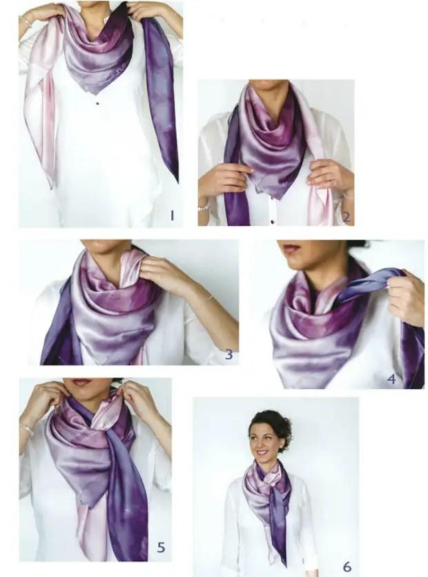 Perec egy selyem zsebkendő.