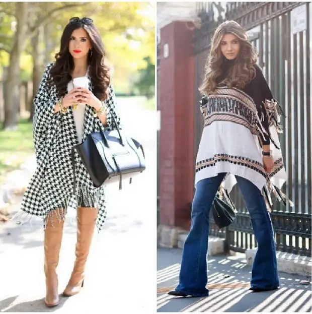 Poncho tricoté