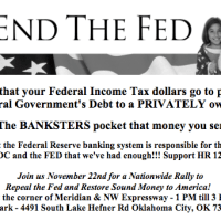 END the FED Rally planned for OKC - Nationwide Nov 22nd