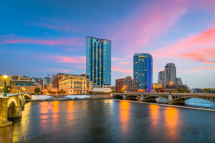 View of the city in Grand Rapids, Michigan