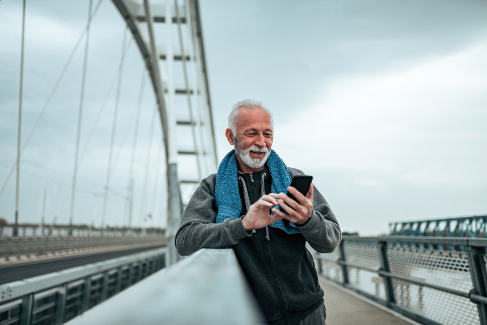Rochester man stops to look at phone during his run