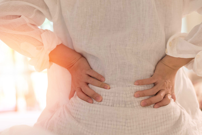 An Alexandria woman with back pain