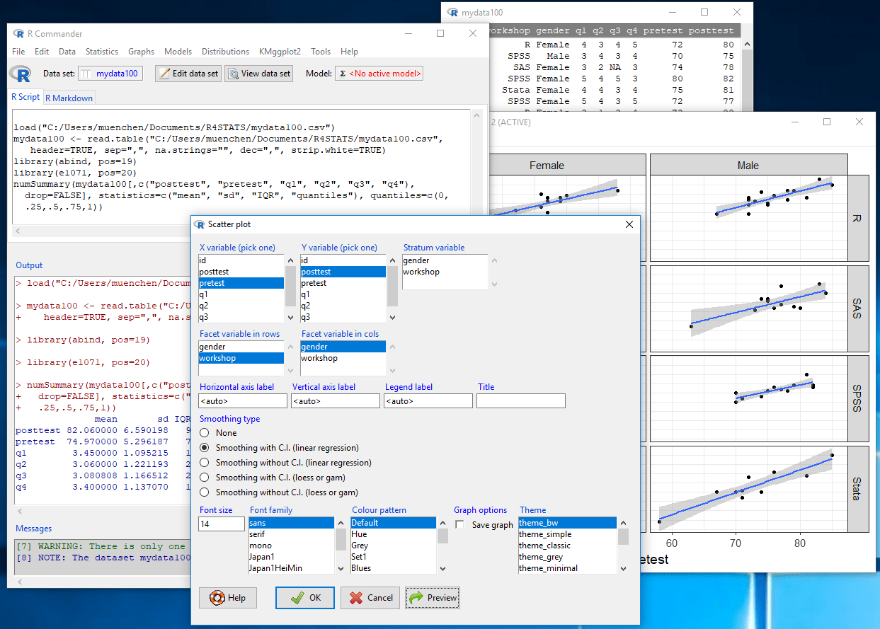 Review of the R Commander GUI for R | r4stats com