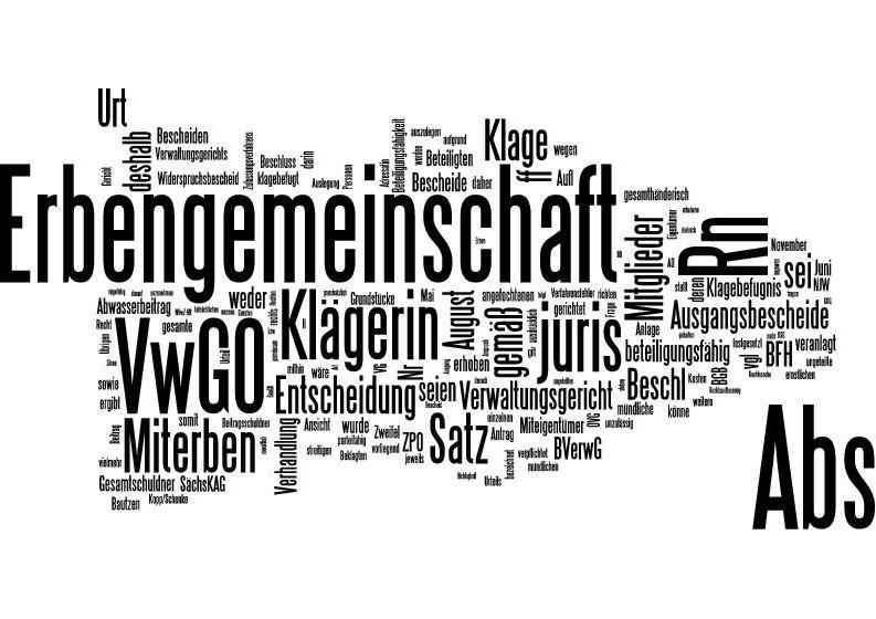 Beschluss des OVG Bautzen vom 11.03.2013 - Beteiligungsfähigkeit der Erbengemeinschaft am Verwaltungsprozess