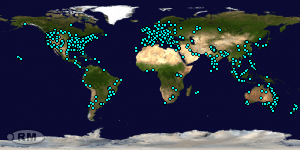 Locations of Site Visitors since 20 February 2019