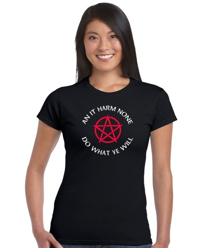 an it harm none ladies pagan shirt
