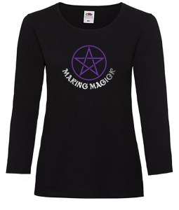 making magick ladies pagan long sleeve shirt