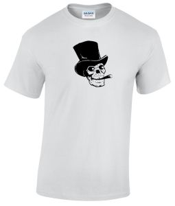 skull wearing a top hat shirt