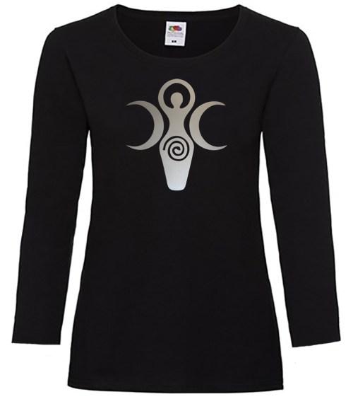 triple goddess symbol pagan shirt