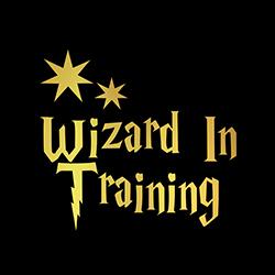 wizard in training kids shirt