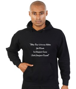 bide the wiccan rede quotation black hoodie
