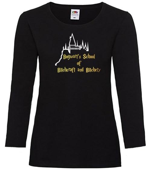 bogwart's school of bitchcraft ladies funny shirt