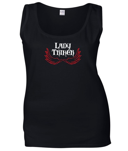 lady triker red wings top