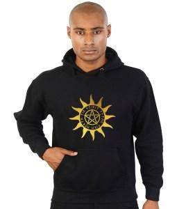 pagan sun with pentacle hoodie