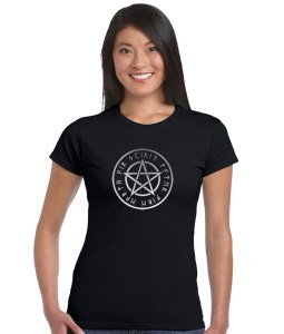 pentacle with runes pagan shirt
