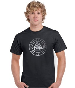 pentacle with valknut pagan shirt