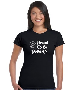 proud to be a pagan ladies short sleeve shirt
