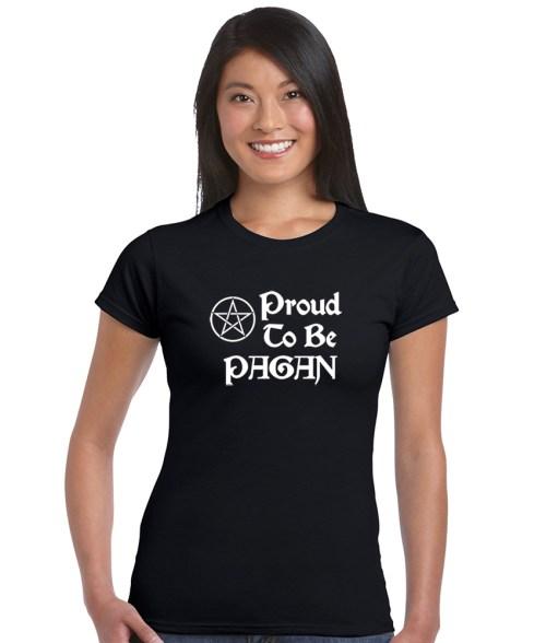 proud to be a pagan ladies short sleeve shirt