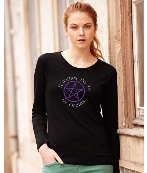 witches do it in circles ladies pagan top