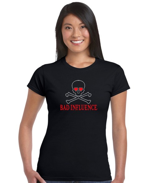 bad influence ladies funny top