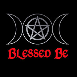 blessed be with triple pagan moon