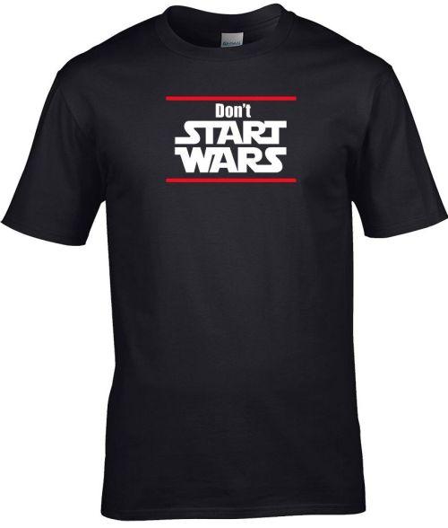 don't start wars men's lifestyle shirt
