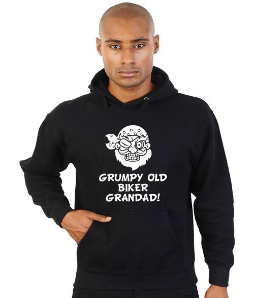 grumpy old biker grandad hoodie