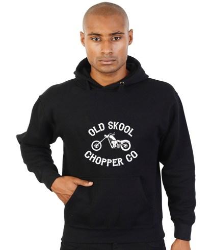 old skool chopper co biker hoodie