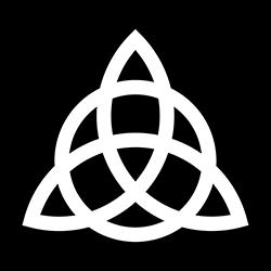 triquetra, trinity knot pagan design