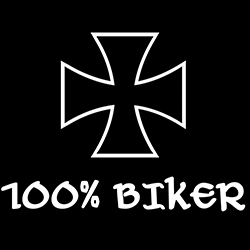 bikers cross 100 percent biker design