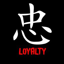 chinese symbol loyalty shirt