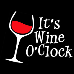 it's wine o'clock ladies funny design